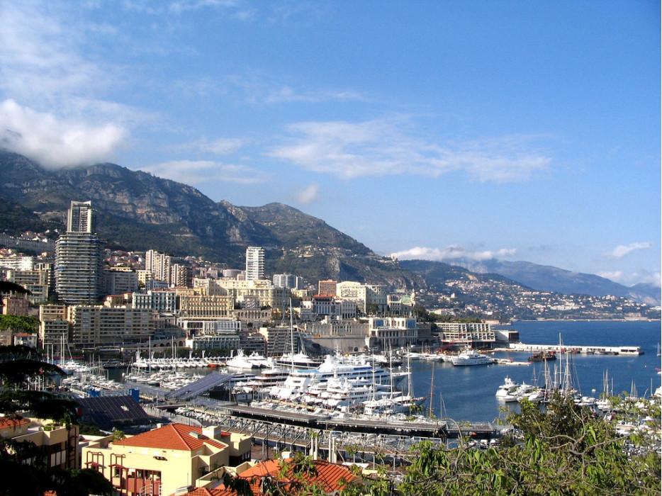 вид на Монако