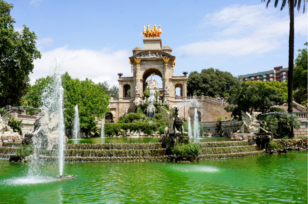 в парке Барселоны