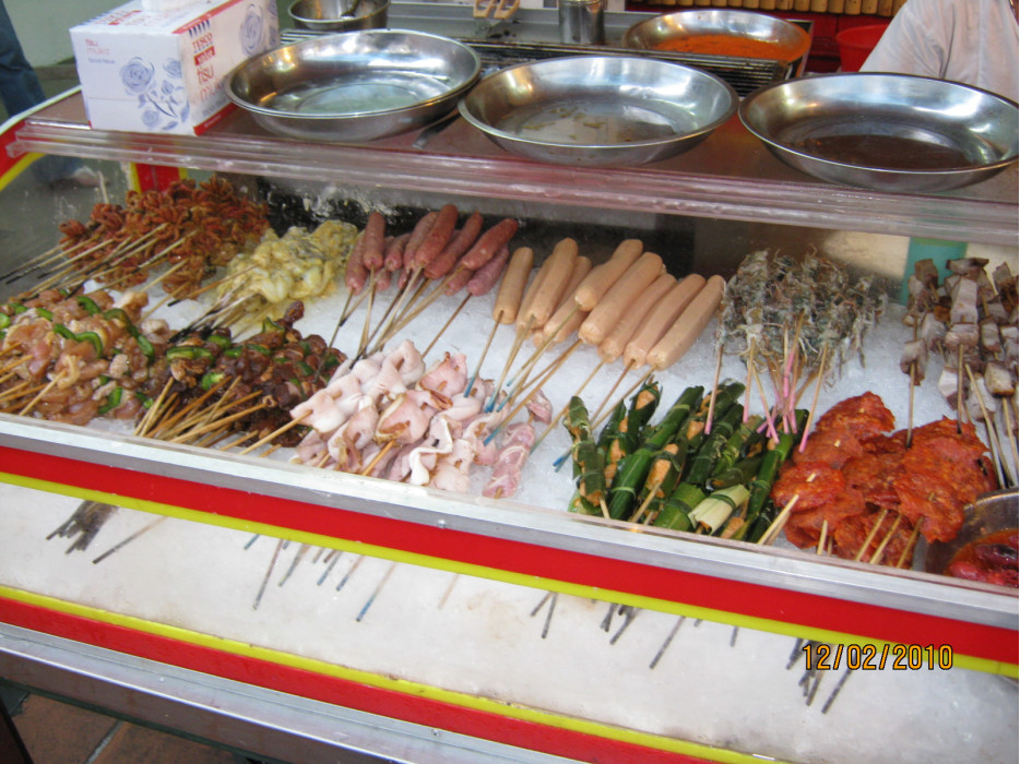 уличная еда в Малайзии