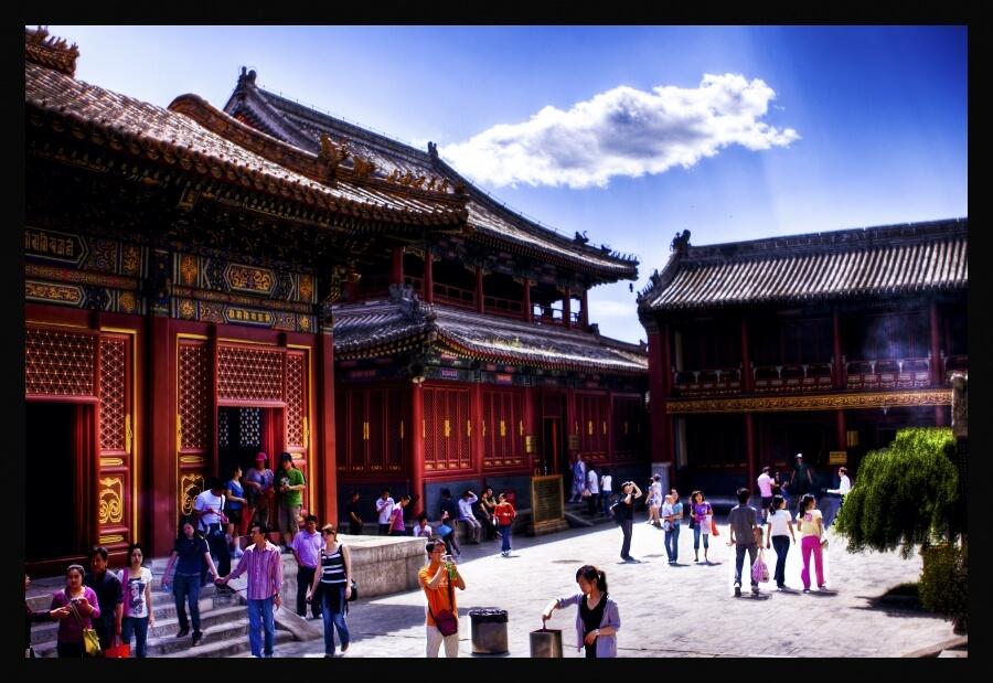 действующий ламаистский храм в Пекине
