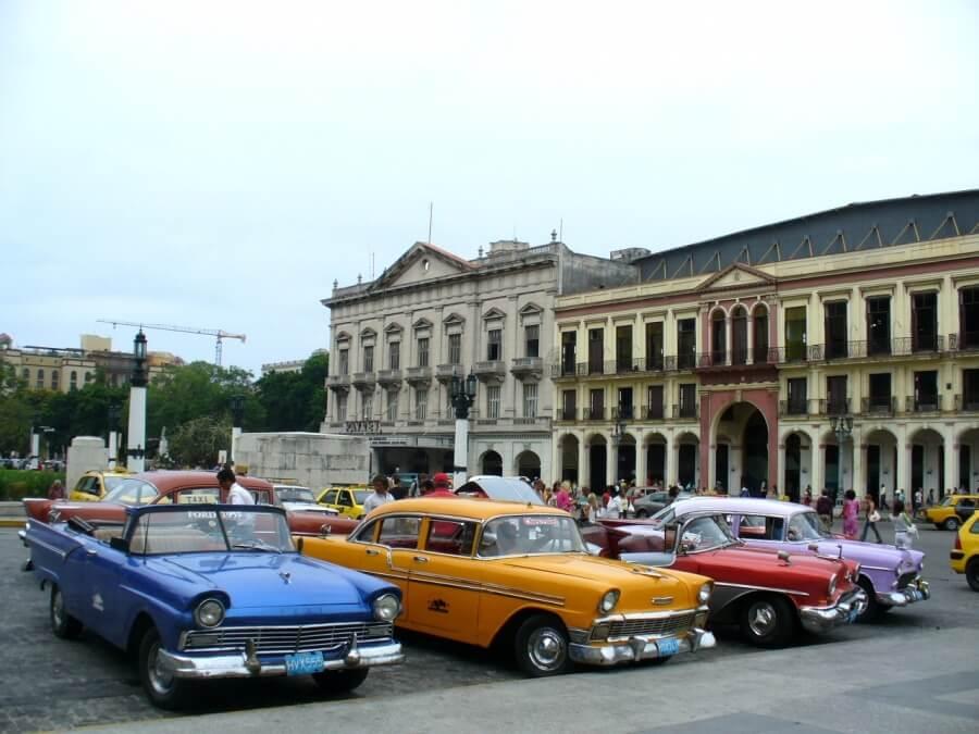 ретро такси в Гаване