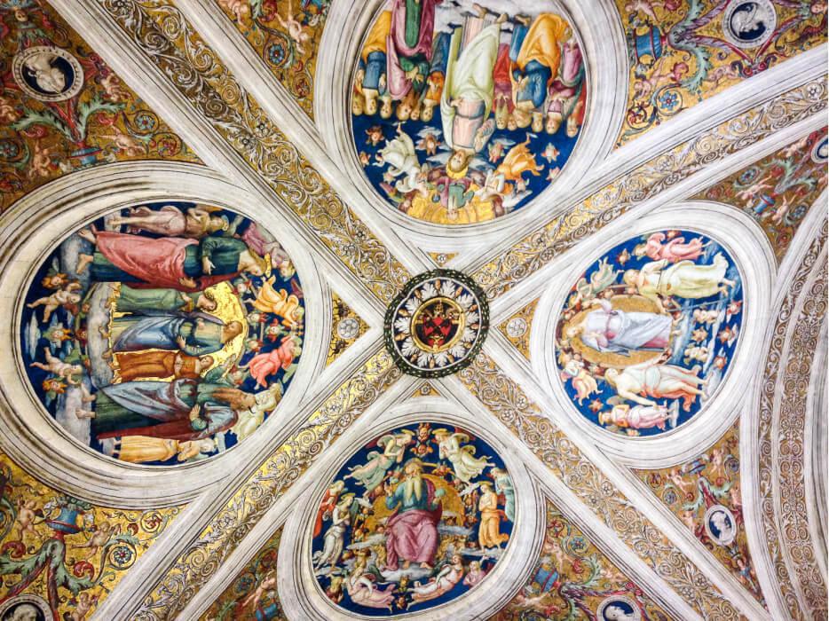 потолок в музее Ватикана