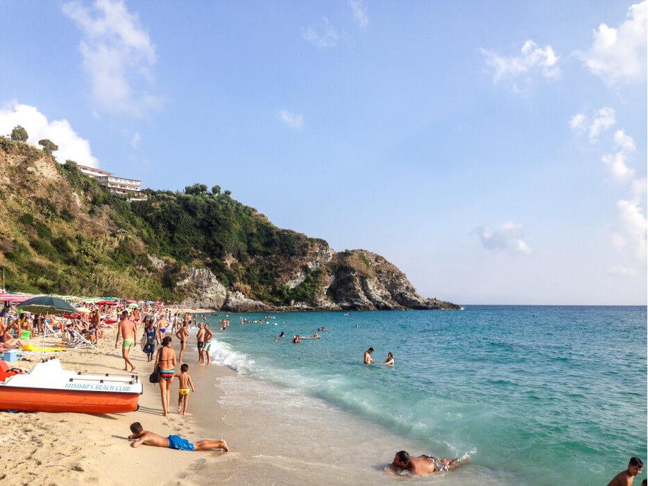 пляж в Капо-Ватикано