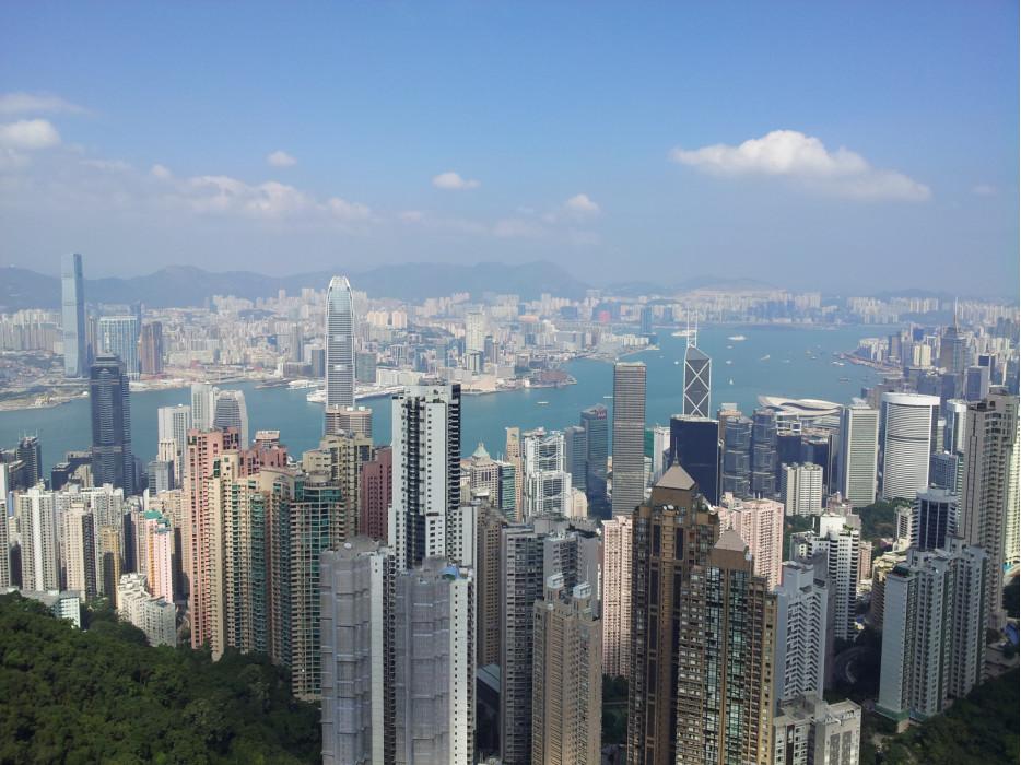 Пик Виктории, вид на Гонконг