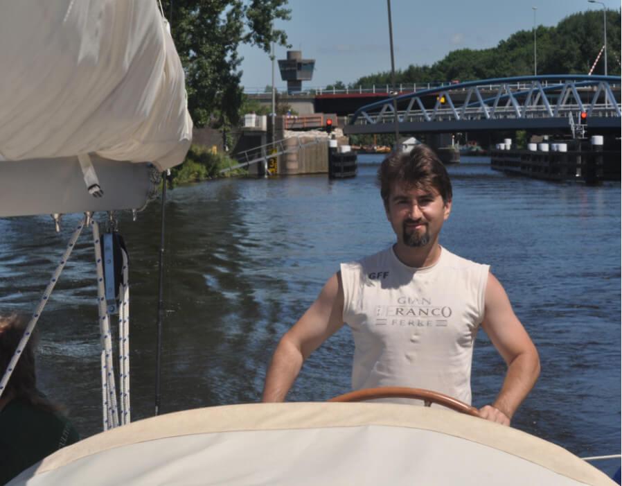 Максим Печеник на яхте