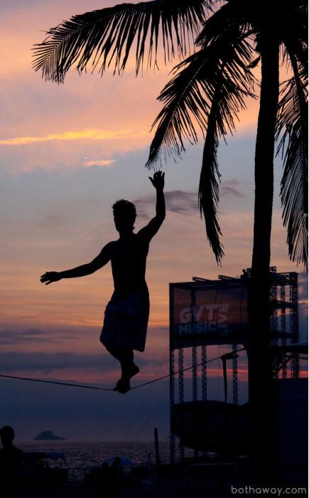 закат на пляже в Бразилии