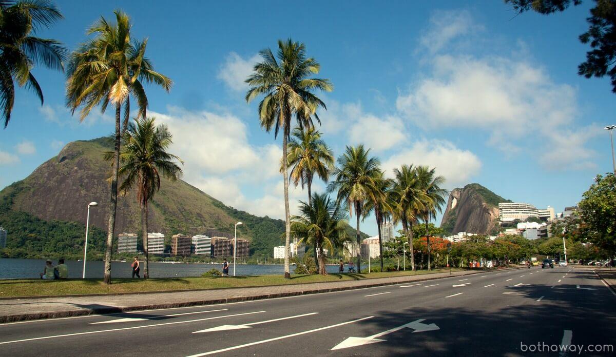Престижный район вокруг Лагоа в Рио-де-Жанейро